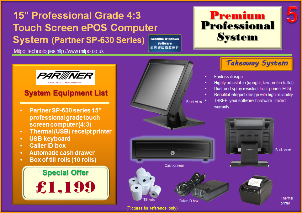Premium Professional ePOS System for Takeaways (T5)