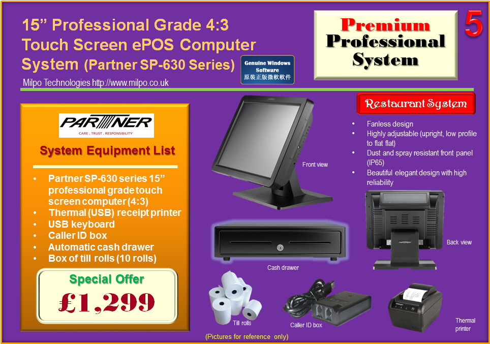 Premium Professional ePOS System for Restaurants (R5)